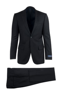 "Canaletto ""Sangria"" Ermenegildo Zegna Cloth Black Suit"