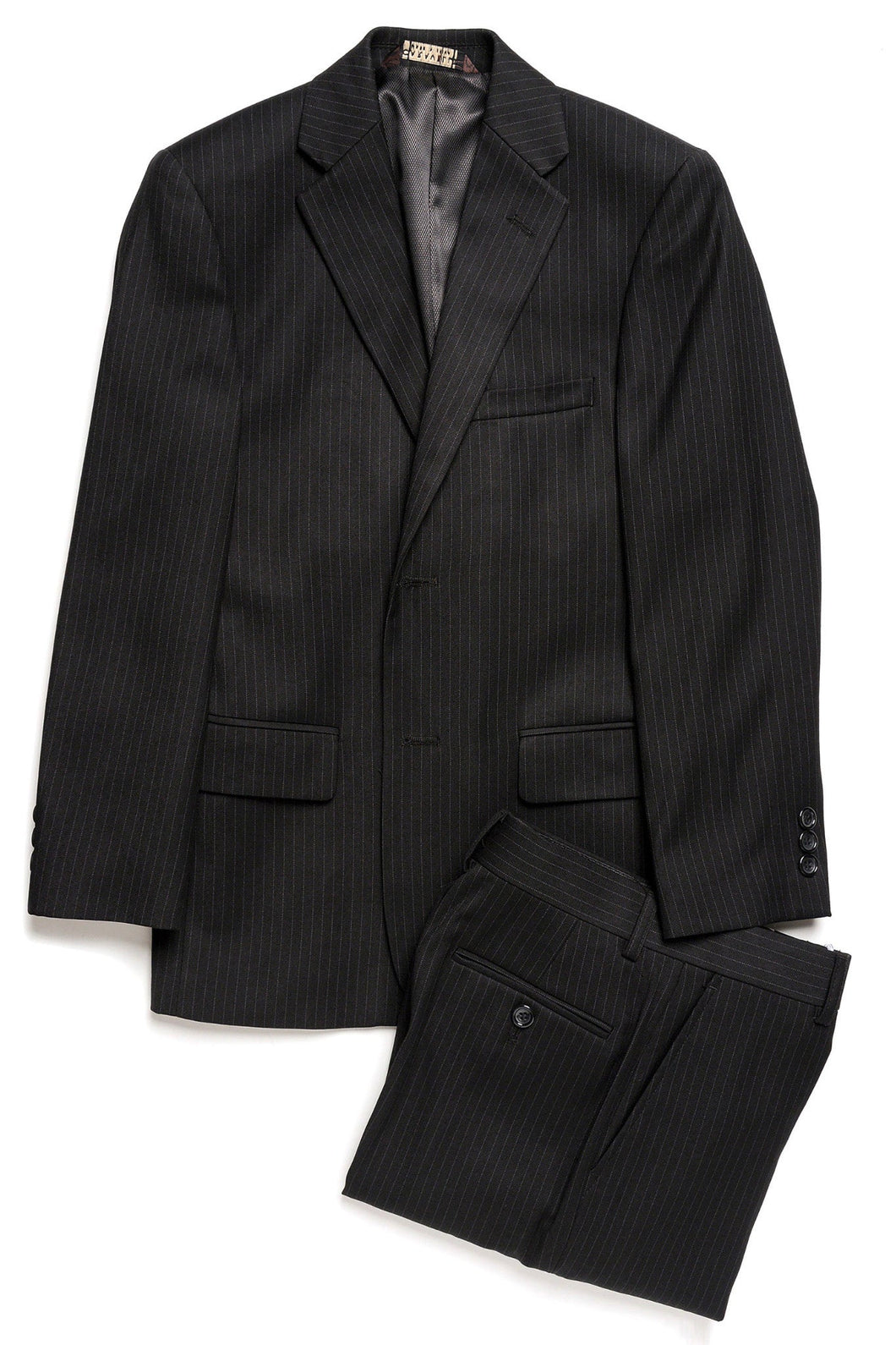 Caravelli Black Tonal Stripe Slim Suit