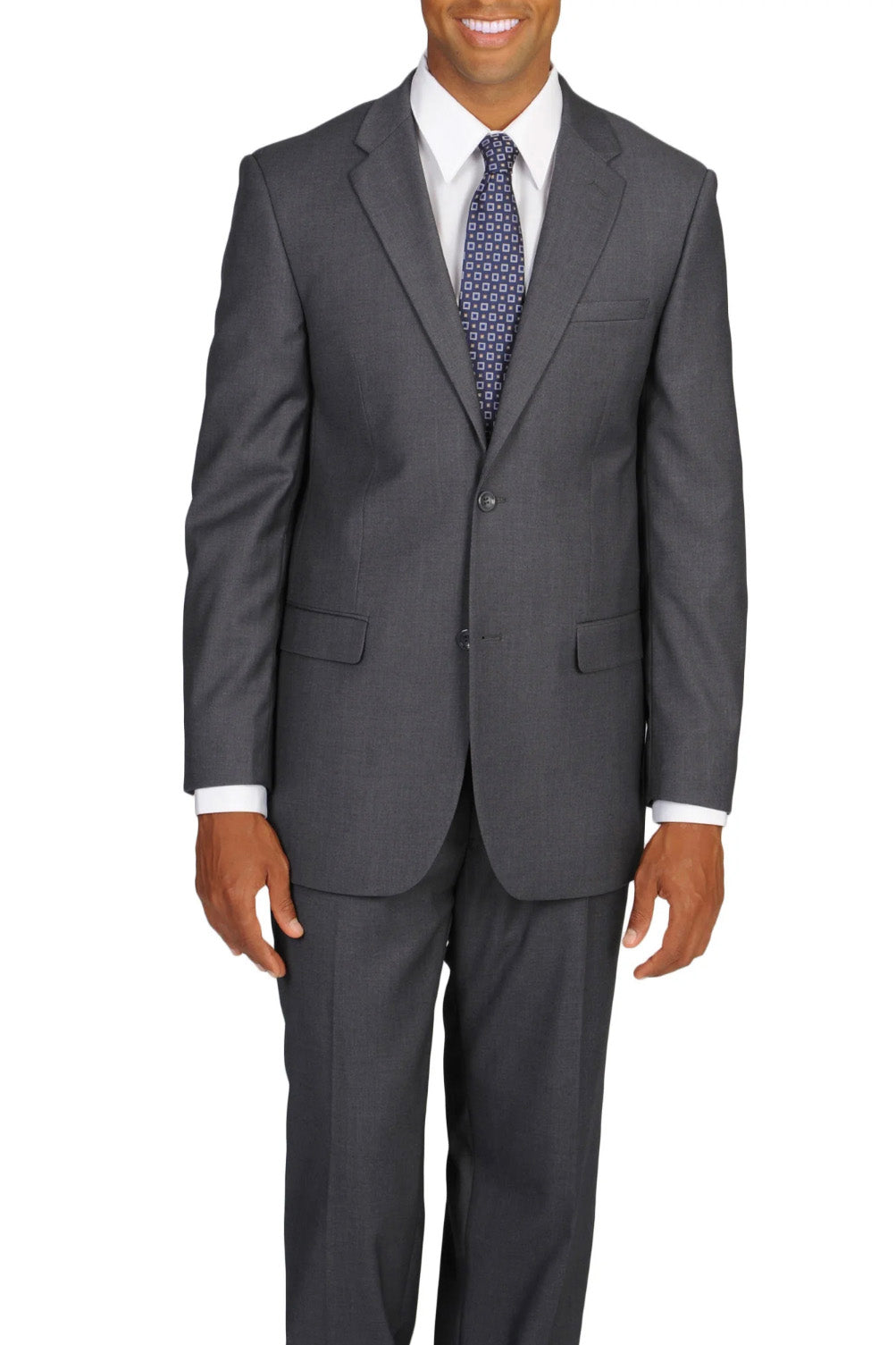Caravelli Solid Grey Slim Suit