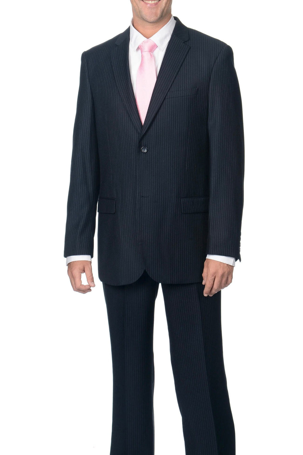 Caravelli Navy Pinstripe Suit