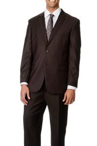 Caravelli Solid Brown Suit