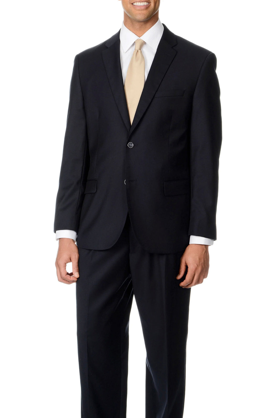 Caravelli Solid Navy Slim Suit