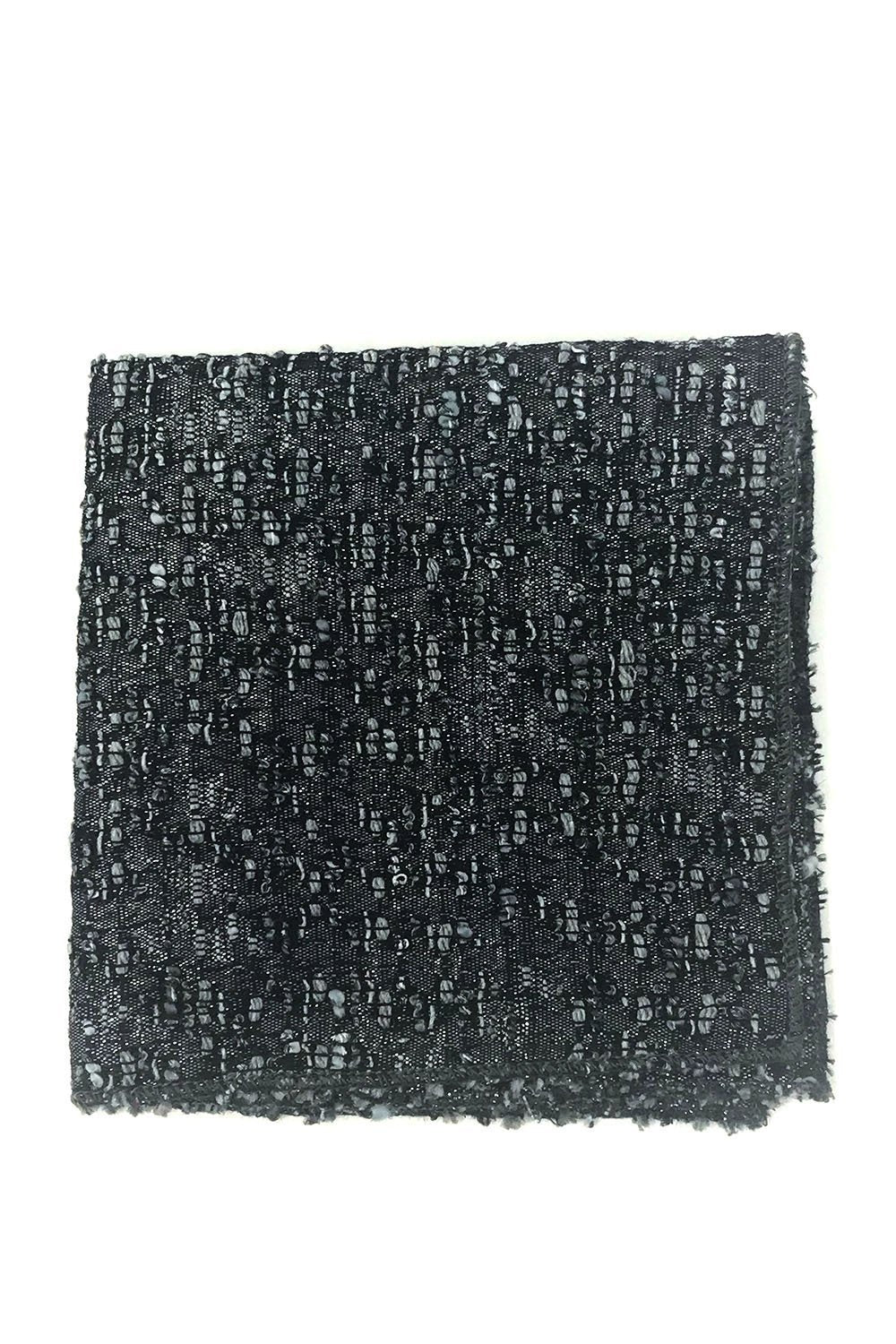 Graphite Laurent Pocket Square