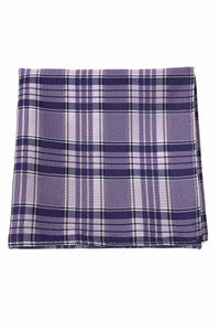 Purple Madison Plaid Pocket Square