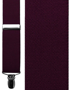 """Catania"" Burgundy Suspenders"