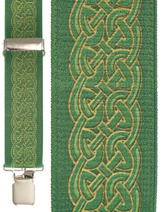 """Celtic Green"" Suspenders"