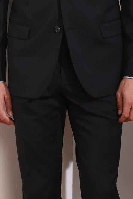 Couture 1901 Black Plain Front Pants
