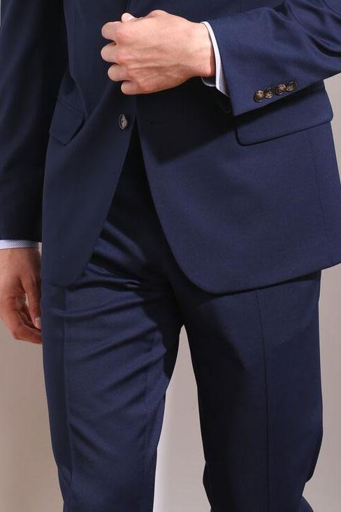 Couture 1901 Navy Plain Front Pants