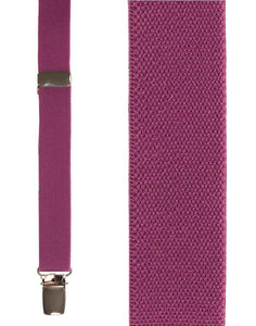 """Dark Pink Oxford"" Suspenders"