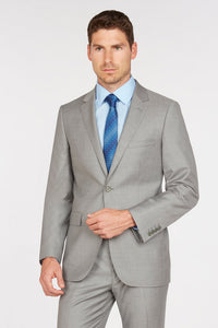 Enzo Solid Light Grey Suit