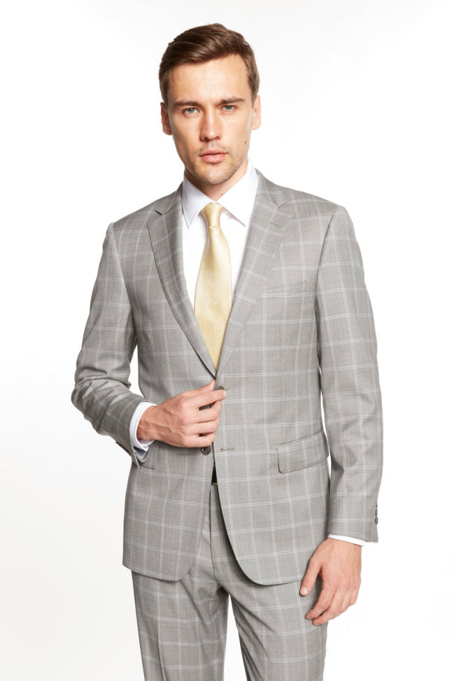 Enzo Salt & Pepper Windowpane Suit