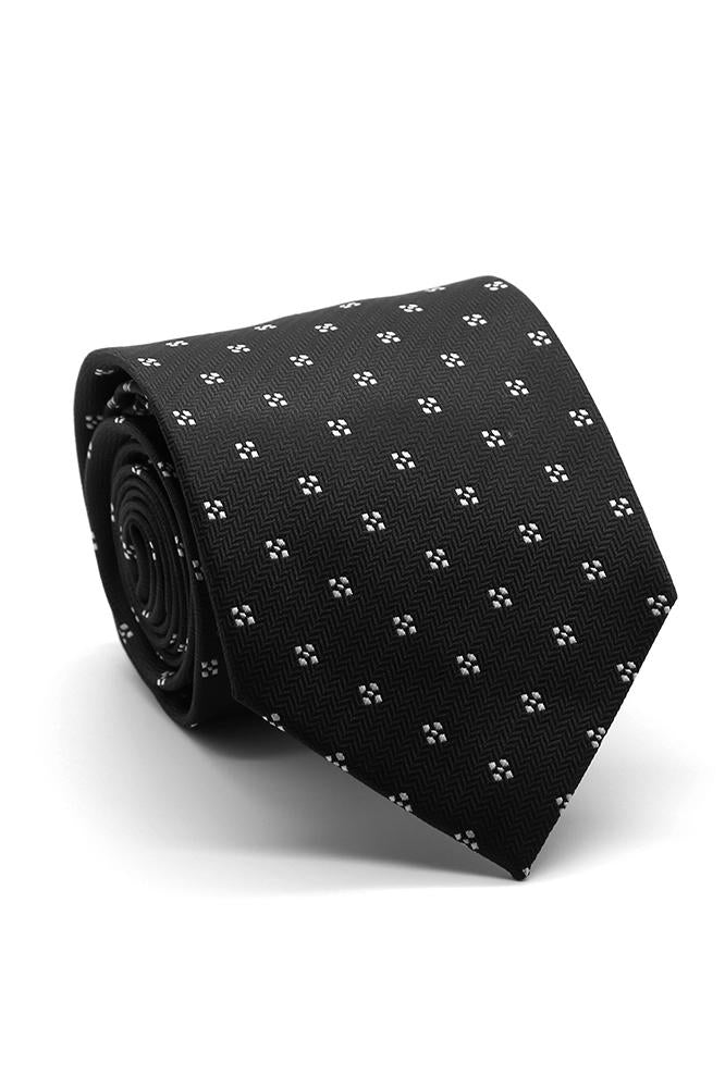 Black and White Corona Necktie
