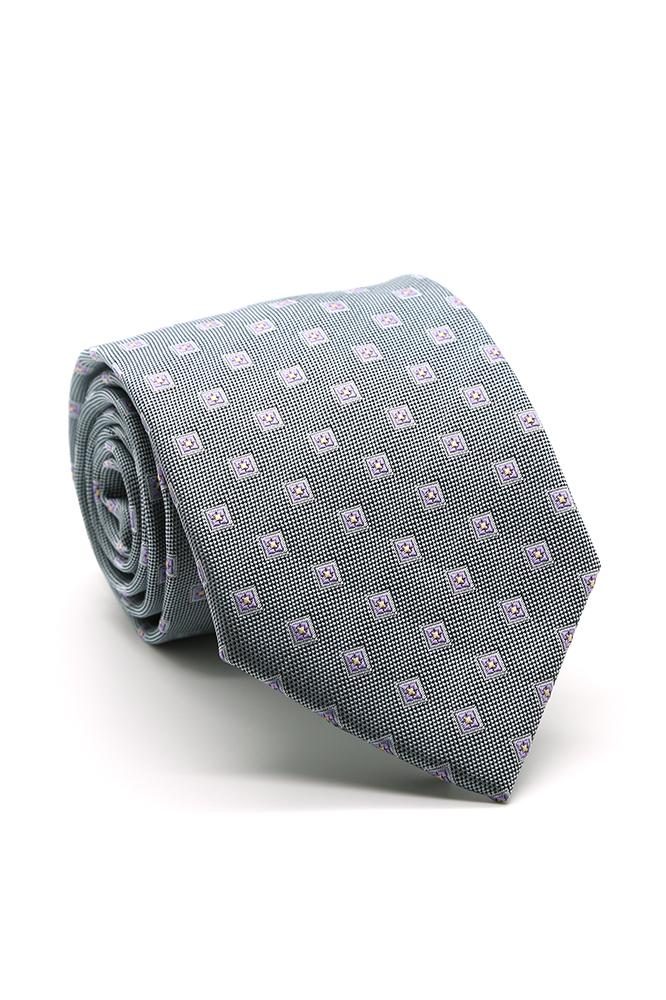 Grey and Purple Imperial Necktie