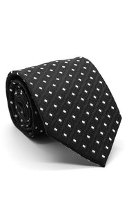 Black and White Imperial Necktie