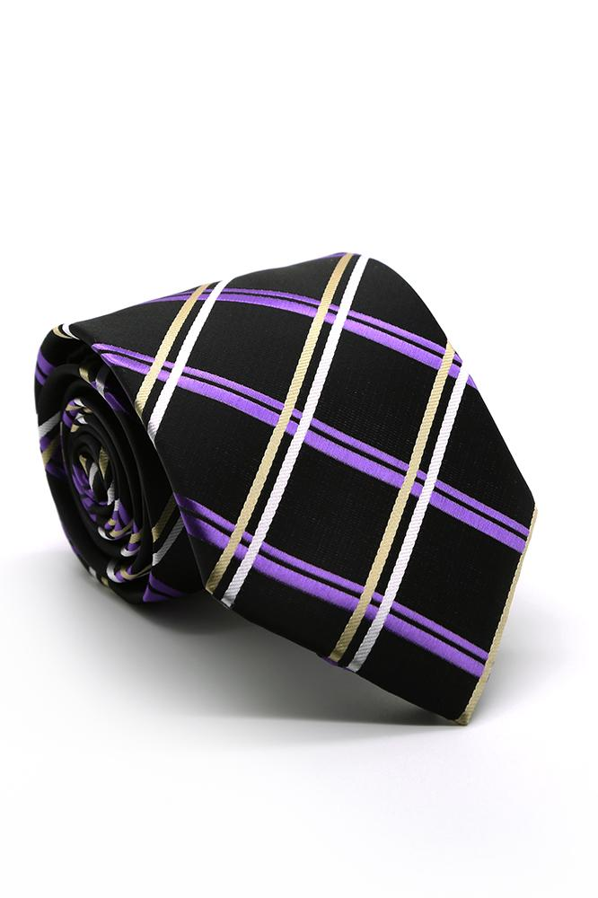 Purple and Gold Montebello Necktie