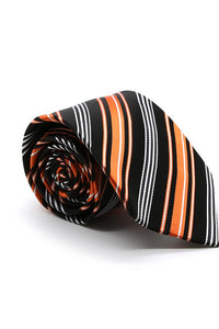 Black and Orange Reedley Necktie