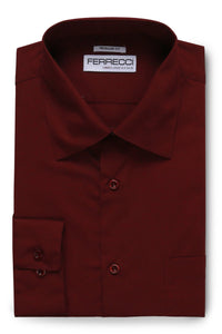 "Ferrecci ""Virgo"" Burgundy Dress Shirt"