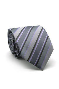 Grey and Purple Willows Necktie