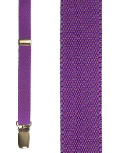 """Fluorescent Purple Charleston"" Suspenders"