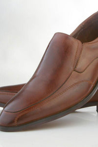 """Carlyle"" Brown Frederico Leone Tuxedo Shoes"
