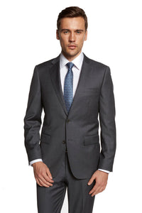 Giorgio Fiorelli Solid Medium Grey Suit