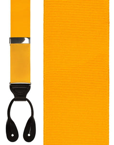 """Gold Grosgraine Ribbon II"" Suspenders"