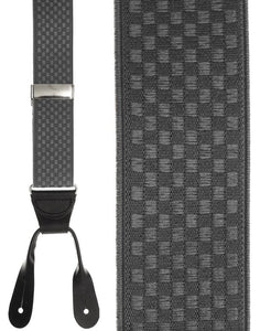"""Grey Checkers"" Suspenders"