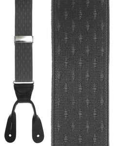 """Grey Petite Diamonds"" Suspenders"