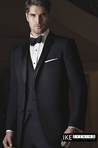"""Evening Notch"" Black 2-Button Notch Tuxedo"