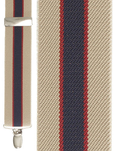 """Khaki Bostonian Stripe"" Suspenders"