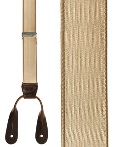 """French Satin"" Khaki Suspenders"