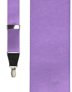 """Light Purple Grosgraine Ribbon"" Suspenders"