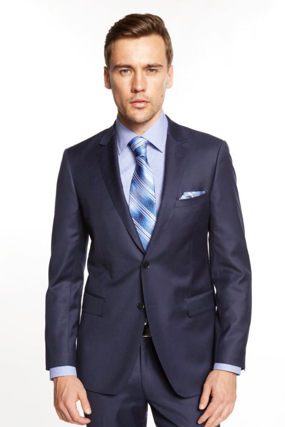 Mantoni Solid French Blue Suit