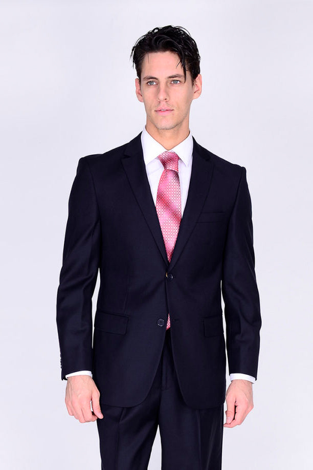 Mantoni Solid Navy Suit