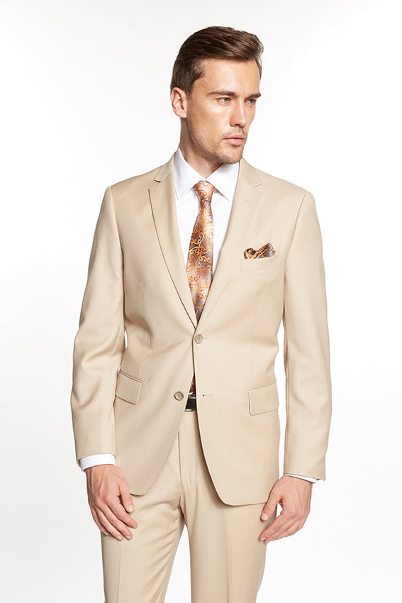 Mantoni New Solid Beige Suit