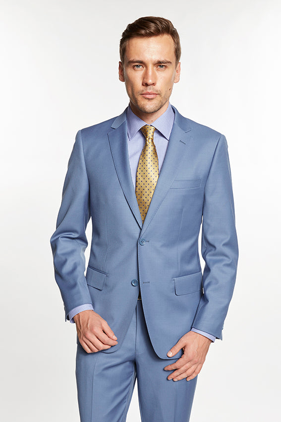 Mantoni Solid Sky Blue Suit