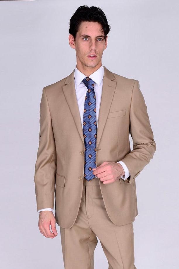 Mantoni Solid Camel Suit