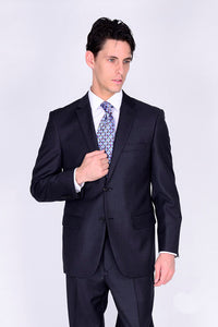 Mantoni Solid Charcoal Suit