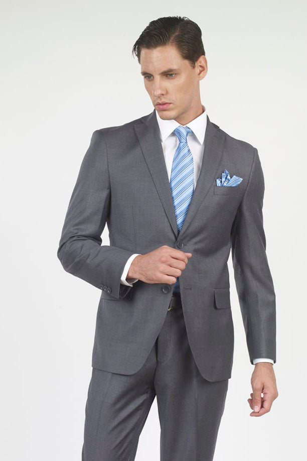 Mantoni Solid Grey Suit