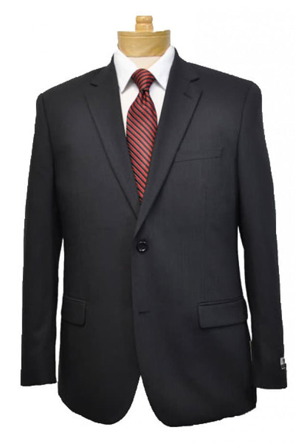 Montefino Solid Black Suit
