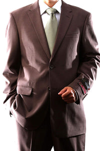 Montefino Solid Brown Suit