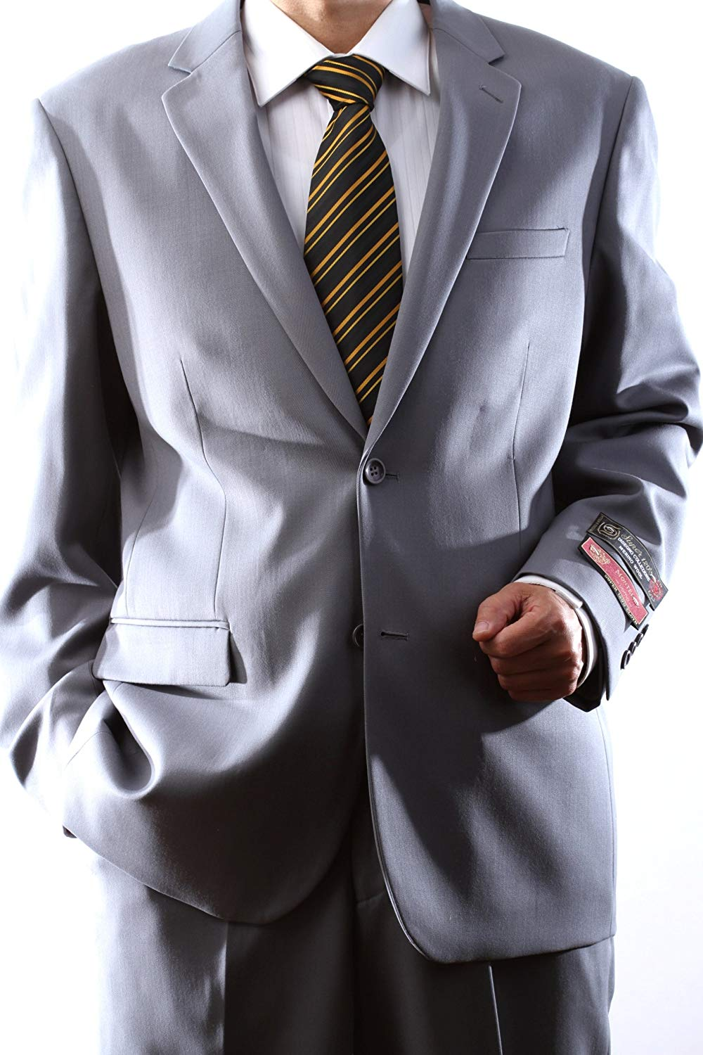 Montefino Solid Light Grey Suit