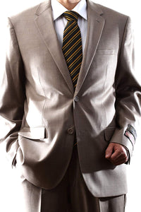 Montefino Solid Tan Suit