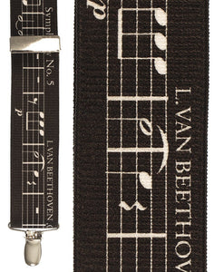 """Musical Notes Black"" Suspenders"