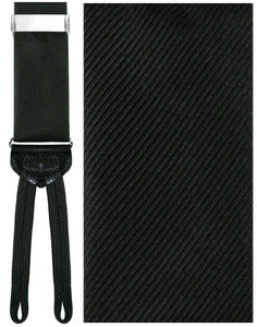 """Napoli"" Black Suspenders"
