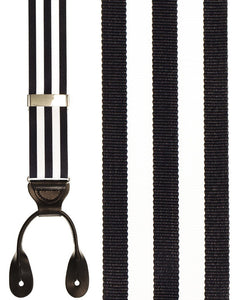 """Navy and White Carmel"" Suspenders"