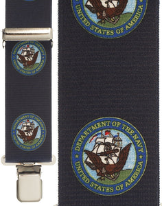 """Navy Armed Forces"" Suspenders"