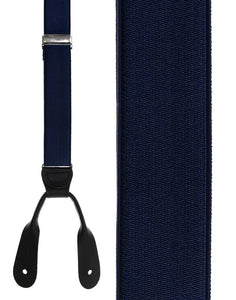 """French Satin"" Navy Suspenders"