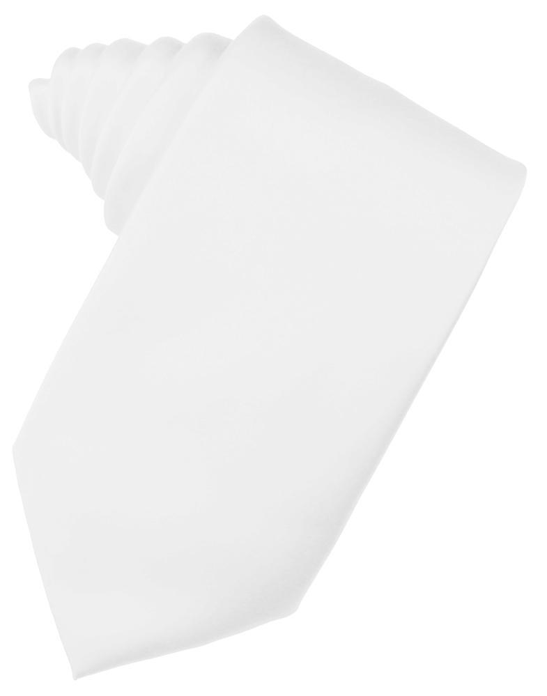 White Noble Silk Necktie