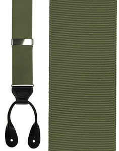 """Olive Grosgraine Ribbon II"" Suspenders"